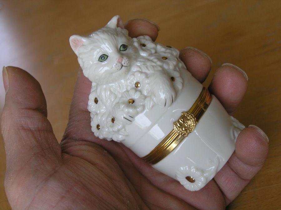 Kitten Trinket Box With bonus Charm Free Lenox The Inquisitive Kitten