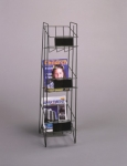 3 POCKET MAGAZINE RACK